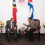 PM-TAUR MATAN RUAK SIMU VIZITA KORTEZIA VISE-MINISTRU RELASAUN EXTERIOR CUBA