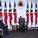 Prime Minister Taur Matan Ruak holds his first meeting with the new European Union Ambassador to Timor-Leste, Andrew Jacobs