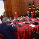 Prime Minister Taur Matan Ruak takes part in the National Leaders meeting with the President of the Republic to find a way out of the political impasse