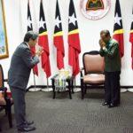 Prime Minister Taur Matan Ruak grant the first audience to the new Ambassador of Japan, KINEFUCHI Masami