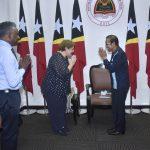 Prime Minister Taur Matan Ruak welcomes a farewell visit of UNICEF representative in Timor-Leste