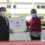 Prime Minister Taur Matan Ruak participates in a handover ceremony of AstraZeneca vaccines offered by the Government of Japan